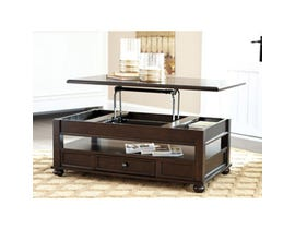 Signature Design by Ashley Barilanni wood Lift Top Cocktail Table in dark brown T934-9