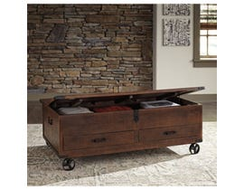 Signature Design by Ashley Norlandon wooden Storage Cocktail Table in brown T938-20