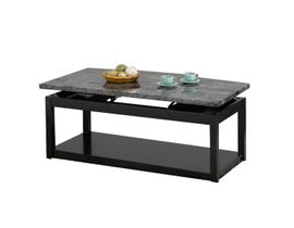 International Furniture Wood and Faux Marble Lift Coffee Table in Black IF-2046