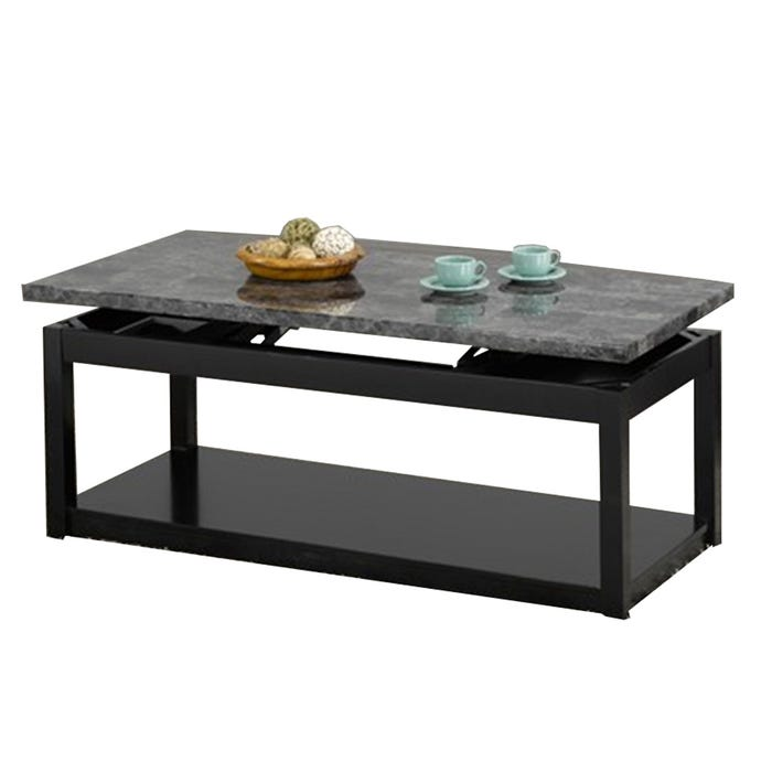 Lift Coffee Table.International Furniture Wood And Faux Marble Lift Coffee Table In Black If 2046