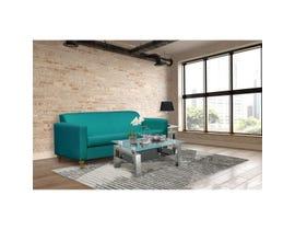 Edgewood Furniture Fabric Sofa in Milano Teal 1889