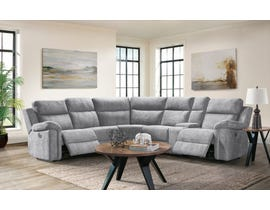 Thomas Series Fabric Sectional in Dome Grey