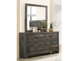 TLK Gallery Sammi Series Dresser and Mirror in Dark Brown/Grey TKL7923-B-DR-MR