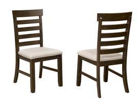Brassex Cleo Series Dining Chair (Set of 2) in Dark Oak TN-270SC