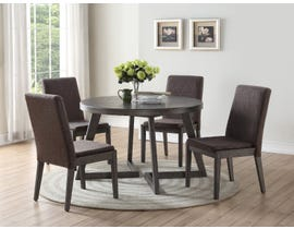Brassex Cleo Collection 5-piece wood dining set in grey TN-271RT