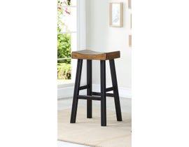 Brassex Luxor Collection 29 inch wood saddle bar stool (set of 2) in dark oak 272TST