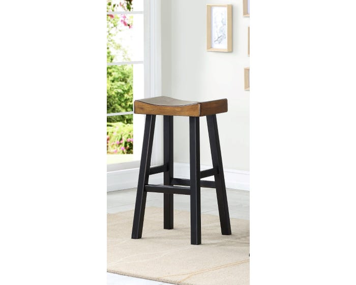 Stupendous Brassex Luxor Collection 29 Inch Wood Saddle Bar Stool Set Of 2 In Dark Oak 272Tst Pdpeps Interior Chair Design Pdpepsorg