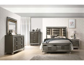 High Society Twenty-nine Collection 6-Piece King Storage Bedroom Set in Grey TN600