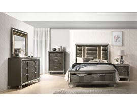 High Society Twenty-Nine Series Storage Bedroom Set in Grey TN600