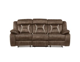 Global Furniture Stitched Fabric Reclining Sofa