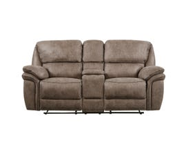 Global Furniture Extra Plush Console Reclining Loveseat