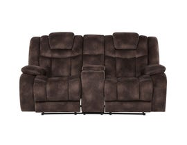 Global Furniture Power Reclining/ Adjustable headrest Console Loveseat