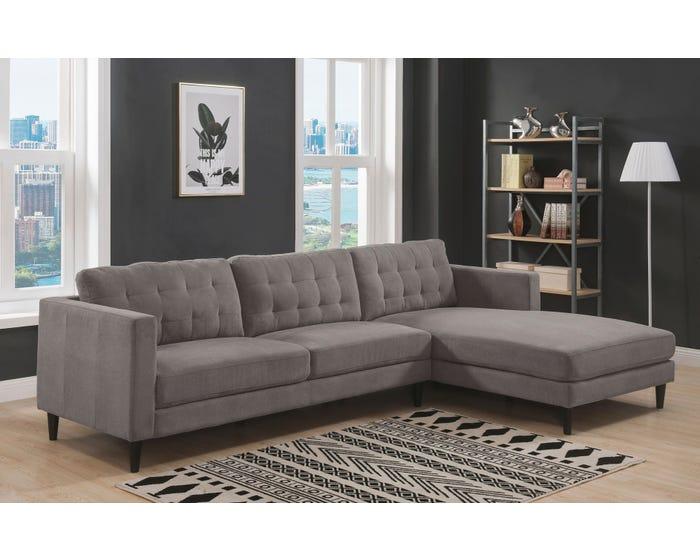 Sectional Sofa K Living U501, Grey Fabric Sectional Sofa