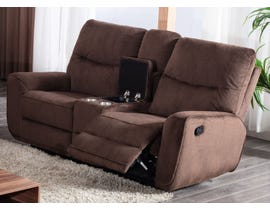 Lifestyle Manual Reclining Loveseat with Console in Chocolate U80033