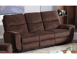 Lifestyle Manual Reclining Fabric Sofa in Chocolate U80033