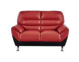 Global Furniture Flared Arms Red/Black Loveseat