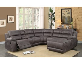 L-style 6pc Reclining Sectional in Badlands Cinerous Grey UF212B