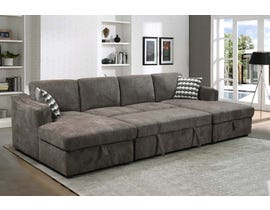 PR Furniture Durante LHF Sectional w/Chaise in Light Brown