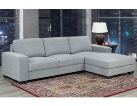 Brassex Hampton Collection Fabric Left Arm Facing  Sectional in Grey UJ099S