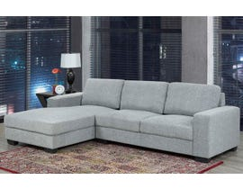 Brassex Hampton Collection Fabric Right Arm Facing  Sectional in Grey UJ099S