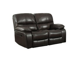 High Society Vino Collection Leather Match Power Motion Loveseat in Espresso UVI310