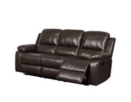 Kwality Furniture Alice Collection Leather Air Reclining Sofa in Chocolate K-550