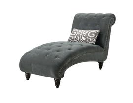 High Society Twain Collection Chaise in Slate Grey UTW08