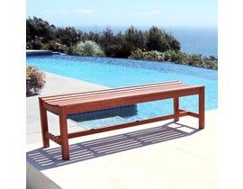 VIFAH Malibu Outdoor Patio 5-foot Wood Backless Garden Bench V025-1