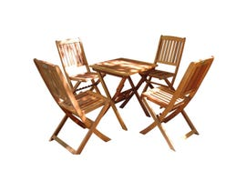 VIFAH Malibu 5-Piece Wood Outdoor Patio Bistro Set V03SET2
