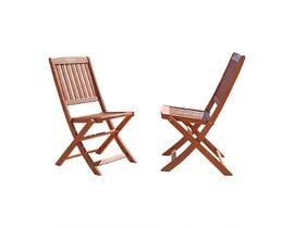 VIFAH Malibu Outdoor Folding Bistro Chair (Set of 2) V04