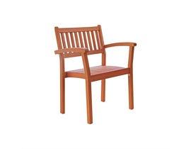 VIFAH Malibu Outdoor Patio Wood Garden Stacking Armchair (Set of 4) V1080