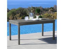 VIFAH Renaissance Outdoor Patio Hand-scraped Wood Rectangular Dining Table V1297