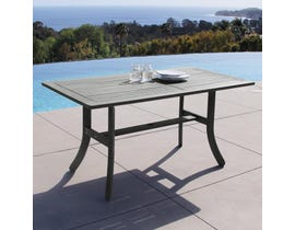 VIFAH Renaissance Outdoor Patio Hand-scraped Wood Rectangular Dining Table with Curvy Legs V1300