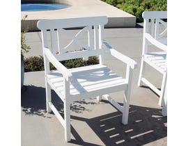 VIFAH Bradley Outdoor Patio Wood Garden Armchair V1341