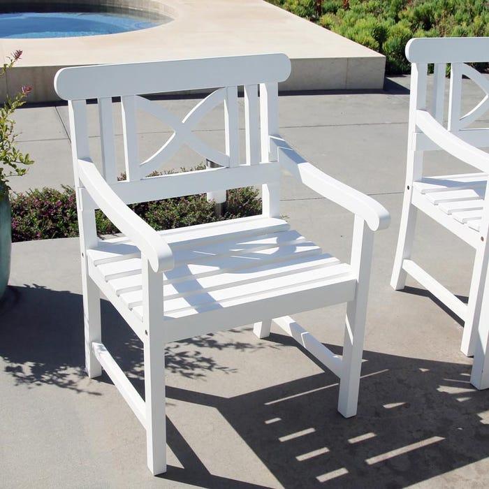 Vifah Patio Furniture.Vifah Bradley Outdoor Patio Wood Garden Armchair V1341