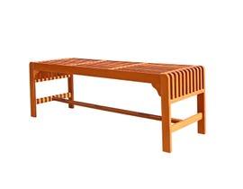 VIFAH Malibu Outdoor Patio 5-foot Wood Backless Garden Bench V1400