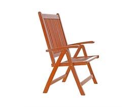 VIFAH Malibu Outdoor Patio Wood 5-Position Reclining Chair V145