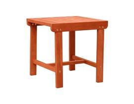VIFAH Malibu Outdoor Patio Wood Side Table V1802