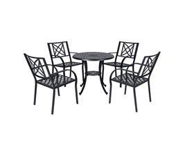 VIFAH Paracelsus Outdoor Patio Aluminum 5-piece Dining Set V1809SET2