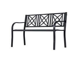 VIFAH Paracelsus 4-Foot Metal Garden Bench in Black V1811