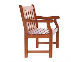 VIFAH Malibu Outdoor Patio Wood Garden Armchair V209