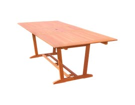VIFAH Malibu Outdoor Rectangular Extension Table with Foldable Butterfly V232