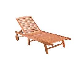 VIFAH Malibu Outdoor Wood Folding Sunbathing Chaise Lounge V255