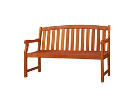 VIFAH Malibu Outdoor Patio 5-foot Wood Garden BenchV275