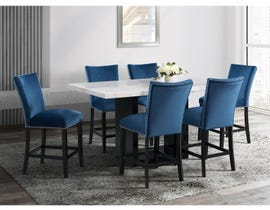 High Society Valentino Series Counter Height Set with Blue Chairs