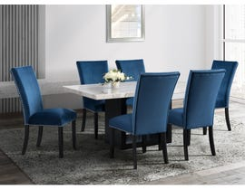 High Society Valentino Series 7Pc Dining Set with Blue Chairs