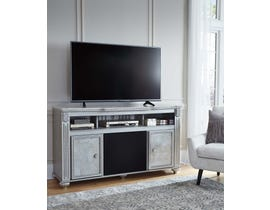 Signature Design by Ashley TV Stand with Large Audio Champagne finish W357W4