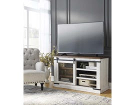 Signature Design by Ashley Wystfield Series Medium TV Stand in White/Brown W549