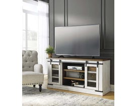 Signature Design by Ashley Wystfield Series 60 inch TV Stand in White/Brown W549-48