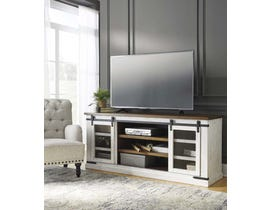 Signature Design by Ashley Wystfield Series 70 inch TV Stand in White/Brown W549-68